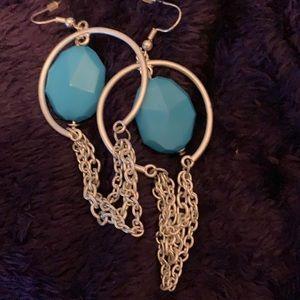 ✨ blue stone earrings